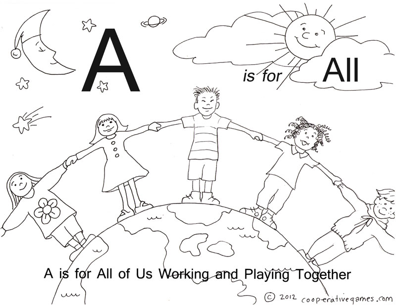 A ABC Coloring Pages