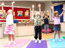 Teaching kids yoga through play